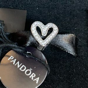 Brand new PANDORA Sparkling Freehand Heart Charm